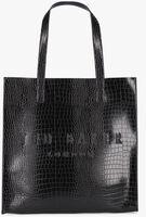 TED BAKER Shopper CROCCON en noir  - medium