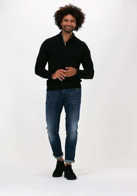VANGUARD Chandail HALF ZIP COLLAR PIMA COTTON en noir - large