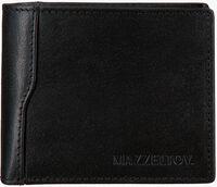 MAZZELTOV Porte-monnaie TIBOR01 en noir  - medium