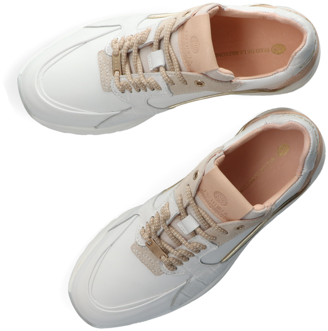 FRED DE LA BRETONIERE Baskets basses 101010219 en blanc  - large