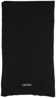 CALVIN KLEIN Foulard FELT PATCH KNIT SCARF en noir  - medium