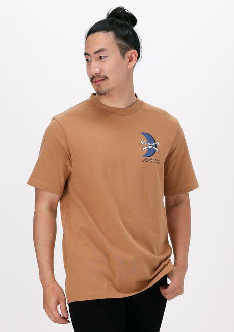 SCOTCH & SODA T-shirt UNISEX - AMELIA EARHART GRAPHI en beige  - large