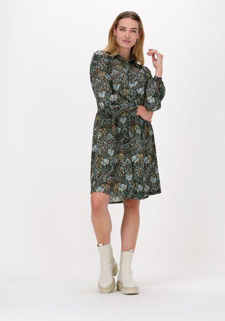 SUMMUM Robe midi DRESS FLOWERS AND LEAVES en multicolore  - large