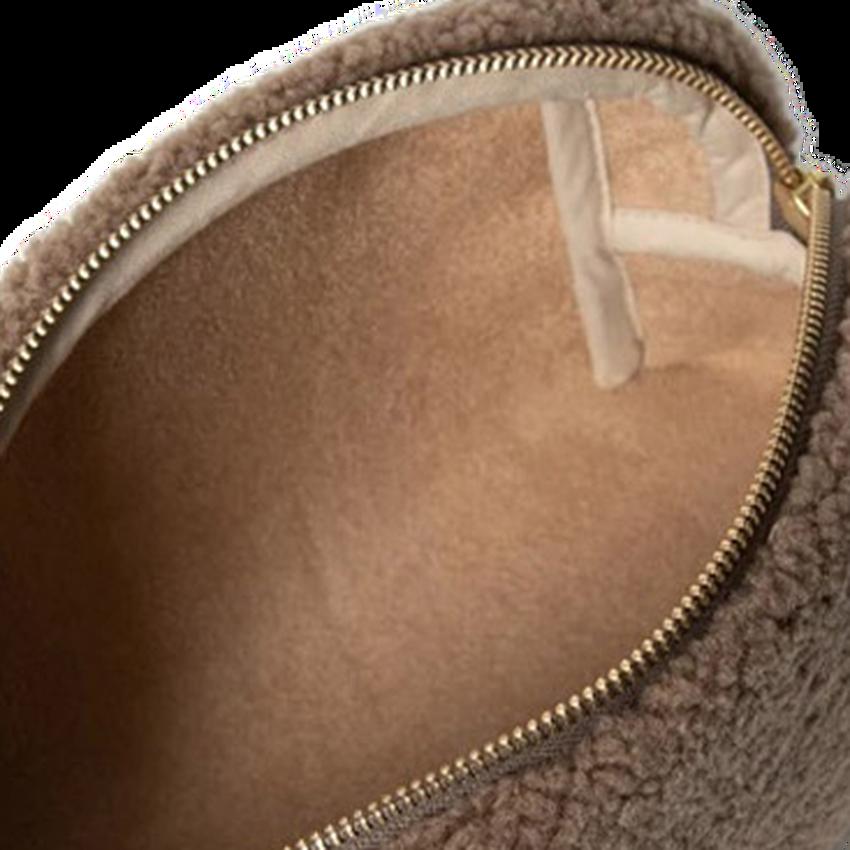 STUDIO NOOS Trousse CHUNKY POUCH en marron  - larger