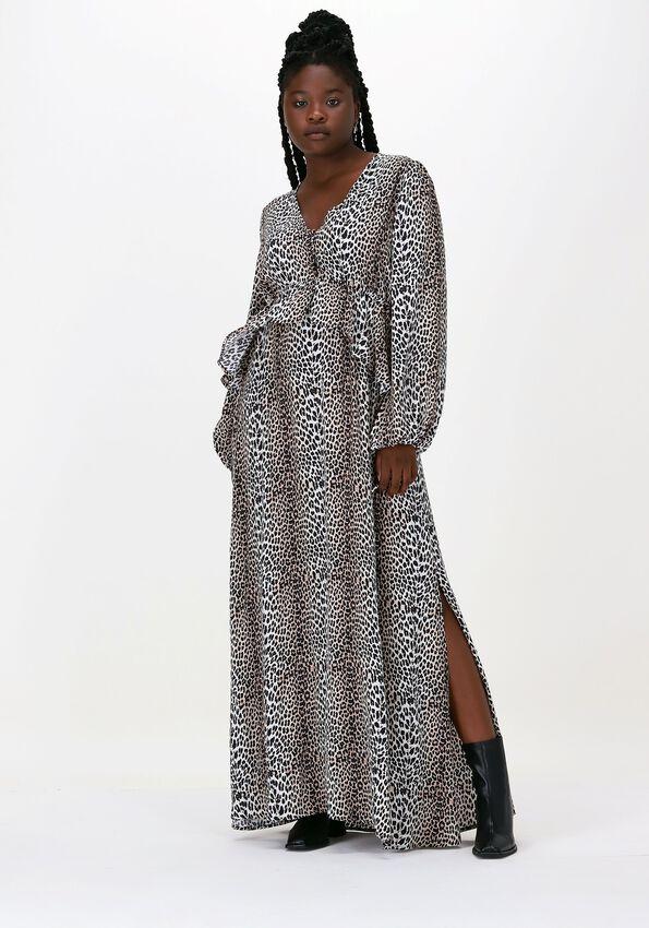 NOTES DU NORD Robe maxi ALICIA LEOPARD DRESS en beige  - larger