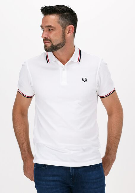 FRED PERRY Polo TWIN TIPPED PRED PERRY SHIRT en blanc  - large