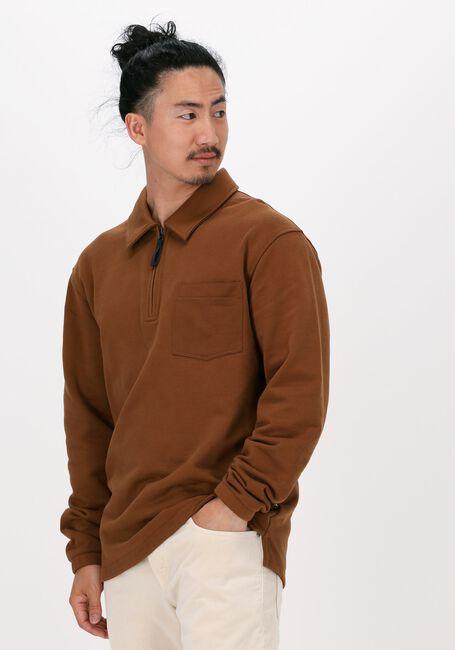 SELECTED HOMME Pull SLHRELAXREID HALF ZIP SWEAT W en marron - large