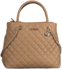 GUESS Sac bandoulière ILLY SOCIETY SATCHEL en beige  - small