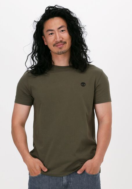 TIMBERLAND T-shirt SS DUN-RIVER CREW T en vert  - large